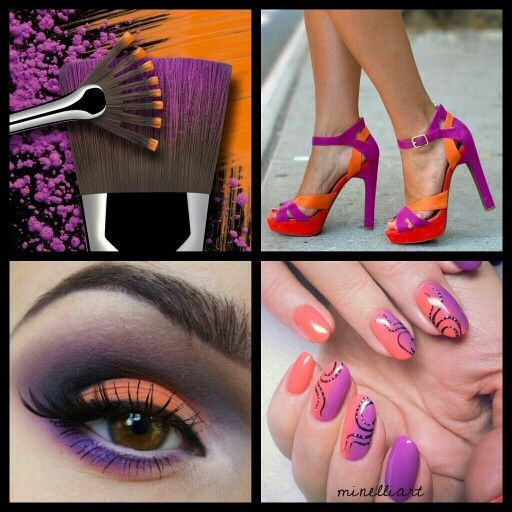 "What do you think about this combo? ""Some are saying the #trend is strange beacause the #colours don't match. It's definitely not a trend for everyone and makes quite a #bold #statement, but #orange and #purple are both #tertiary colours. This means both colours are a blend of adjacent #primary and #secondary colours. So if you're feeling #daring, take a shot at #rocking this bold trend."" -olive coco mag #minelliart #BioSculptureGel #NailArt #ombre #OmbreNailArt"