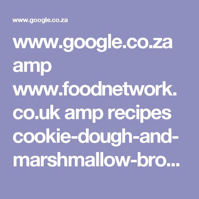 Marshmallow cookie recipes uk