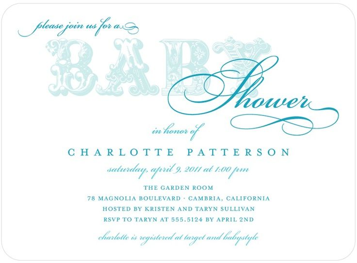 White and Blue Baby shower invitation