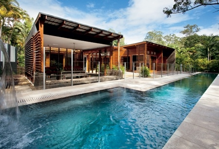 Queensland Homes | Open House  Air, water, trees and wood....