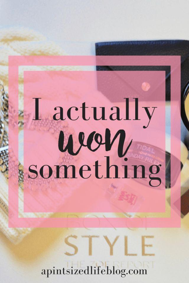 I actually won something Pinterest graphic