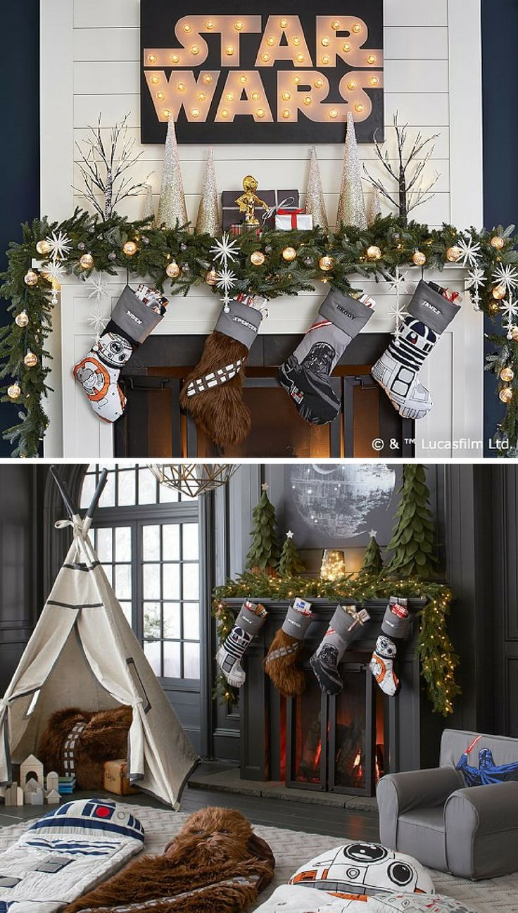 I would have the best Christmas far far away in this galaxy with these Star Wars stockings #starwars #christmas #stocking #geek #commissionlink