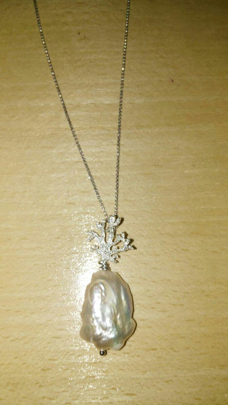 Pendente Argento e Perla