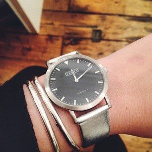 Shore Projects watches now with a Metallic Silver band!