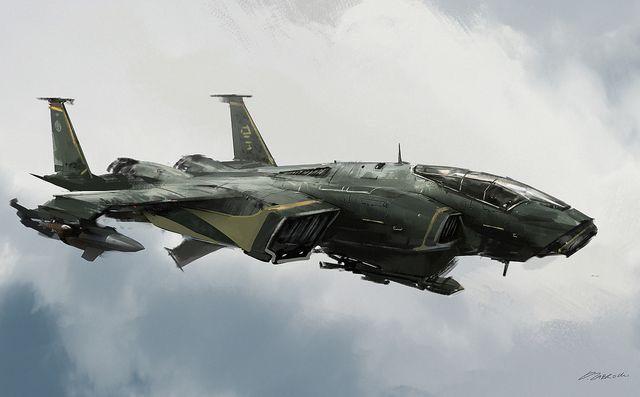 futuristic fighter plane