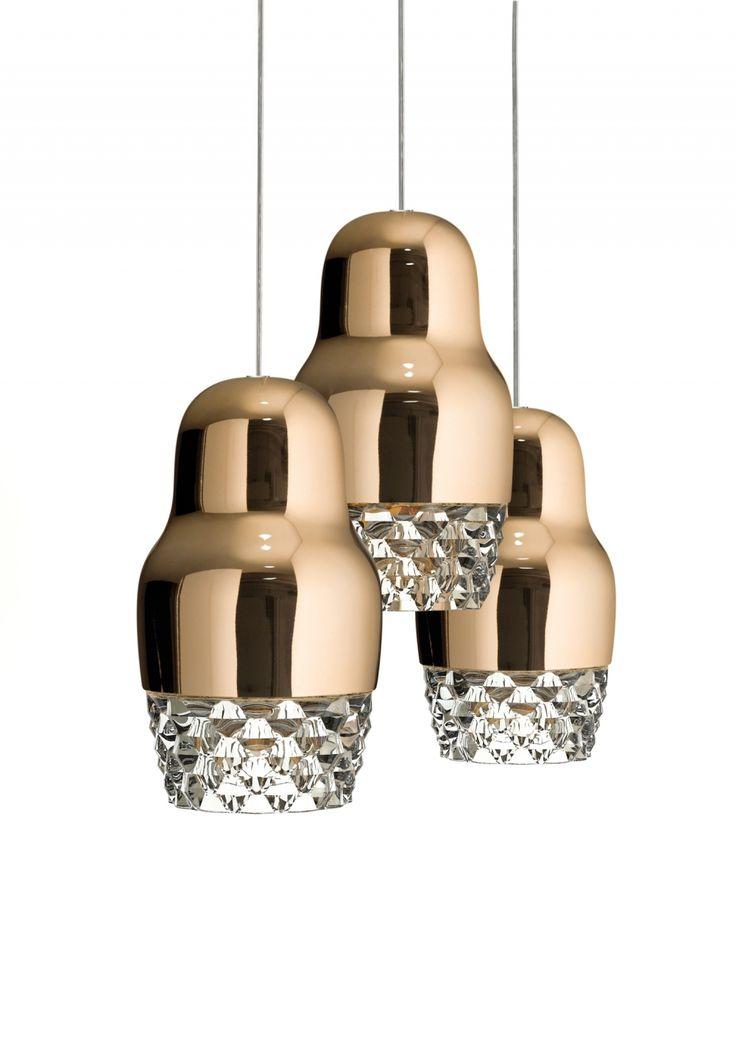 Fedora suspension lighting - дизайнерский светильник, люстра. Современный стиль, современная классика. Золотая люстра.