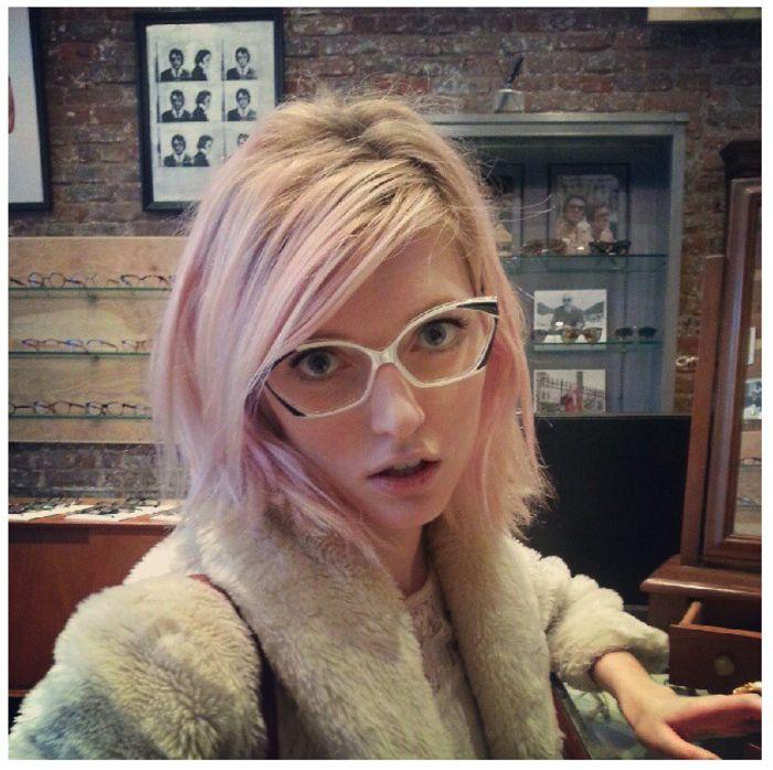 Sophie Sumner in rare Courreges eyeglasses