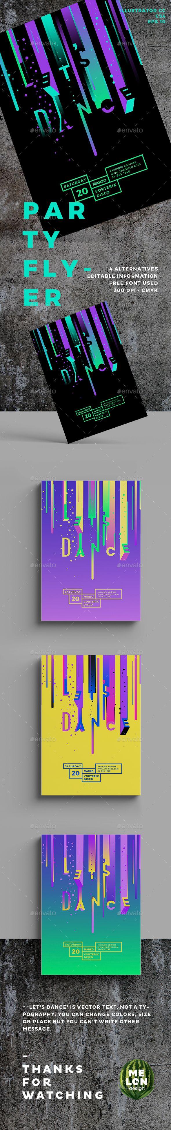 Disco flyer flyer designevent poster