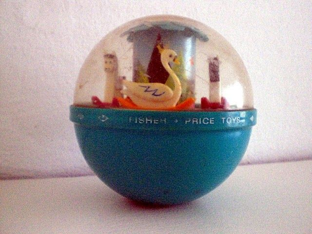roly poly chime ball....I remember trying to break this open to get the swan....it never broke!!! lololol