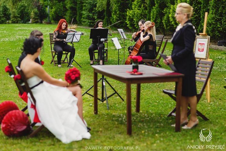 8. Rock Wedding,Outdoor ceremony / Rockowe wesele,Ceremonia w plenerze,Anioły Przyjęć
