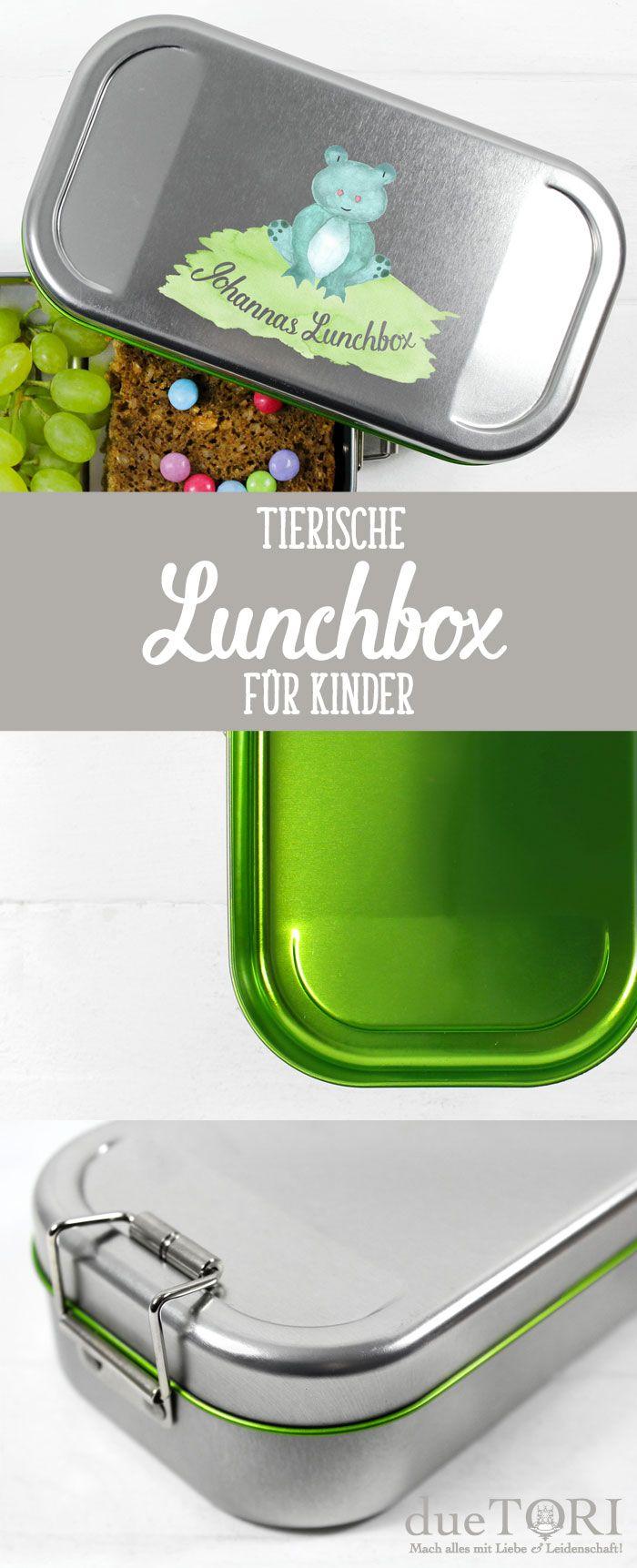 Tierische Lunchbox für die Schule oder den Kindergarten!