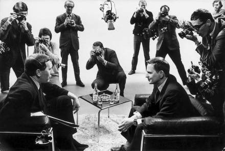 British TV-profile David Frost interviews Swedish prime minster Olof Palme