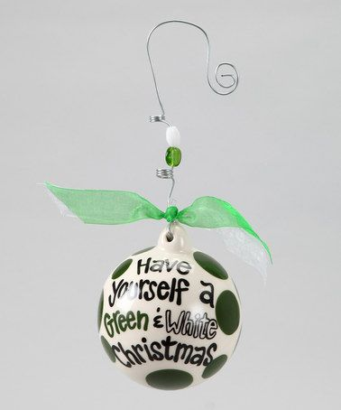 Take a look at this Michigan State Ball Ornament by Holiday Cheer Section: Perfect Gifts on #zulily today!