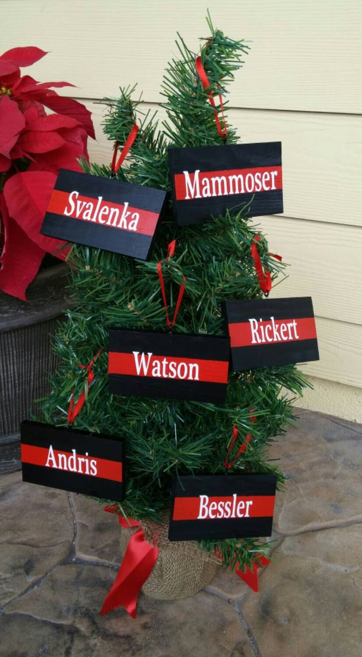 Fire Department Christmas Gifts Part - 25: Thin Red Line Christmas Ornament, Firefighter Ornament, Fireman Gifts, Firefighter  Christmas, Red