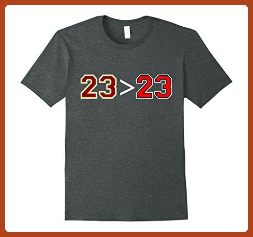 Mens 23 is Greater Than 23 Funny T-Shirt XL Dark Heather - Funny shirts (*Partner-Link)