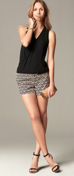 "like this look and these shorts. don't have any ""dressy"" shorts but would love to expand my wardrobe"