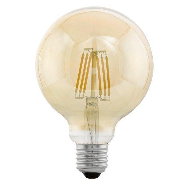 Edison Vintage 11522 Eglo, bec LED E27 G95 4W, chihlimbar, 2200K