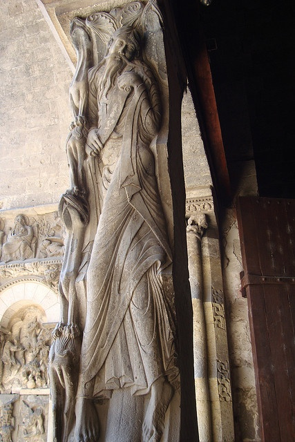 The Prophet Jeremiah on the portal of the Abbey church, Moissac, France