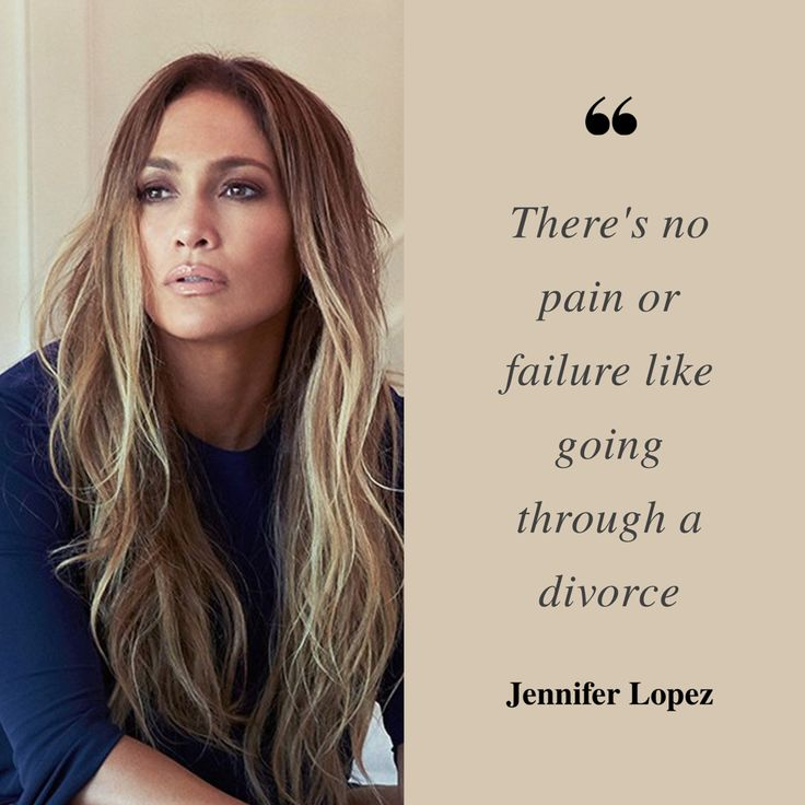 """""""There's no pain or failure like going through a divorce."""" - Jennifer Lopez. www.kinealylawoffices.com #MotivationMonday #divorce #divorcequotes #njattorney #kinealylaw #celebritydivorce #jenniferlopez"""