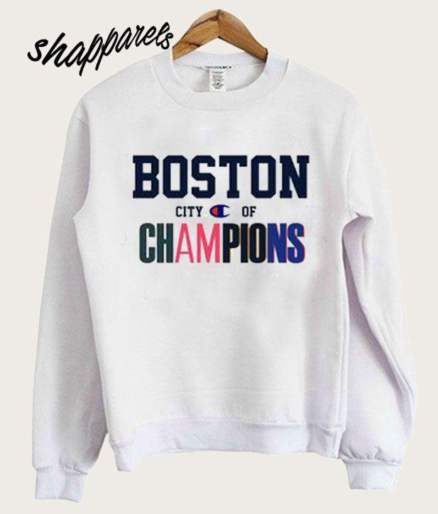 Boston City of Champions sweatshirt   Badass Printables