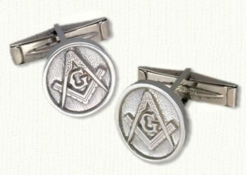 Masonic Cuff Links-Available in Any Metals