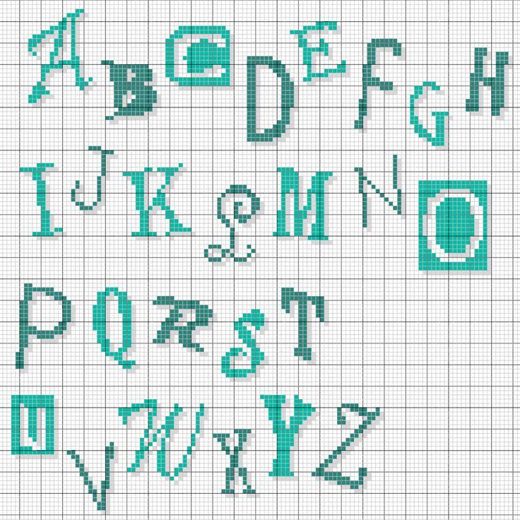 185 best grilles de point de croix alphabet images on - Grille abecedaire point de croix gratuit ...