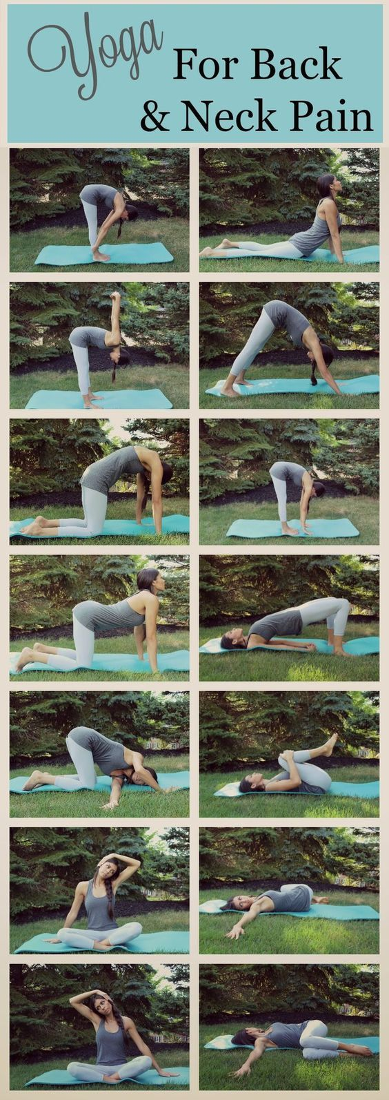 If you suffer from back or neck pain, give some of these yoga poses a try .  These poses are simple to do, even if you have never done yoga...