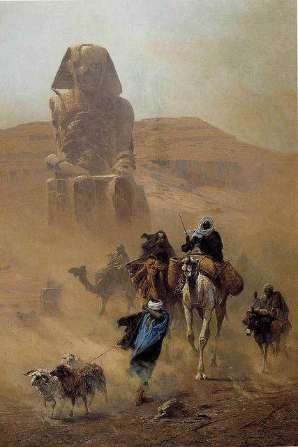 'The Simoom',1878 - Ludwig Hans Fischer (Austrian, 1848-1915)