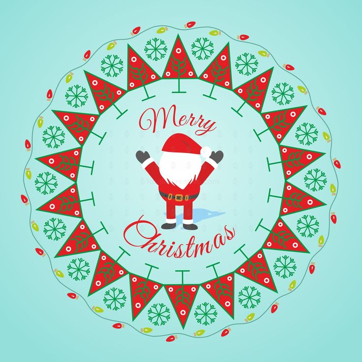 """Christmas wreath with festive background    High qualityvector pattern is unique in style.This """"Christmas wreath with festive background"""" is kind ofpatterncan be used in invitation, brochure, banners, print ads or for any media."""