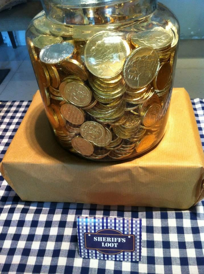 Gold coins for party bags