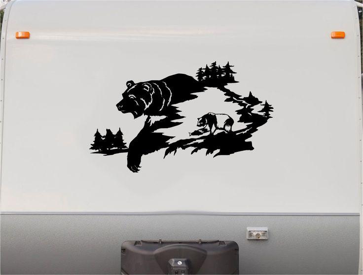 Amazing  Lake Landscape Camper RV Vinyl Decal Sticker Camper Graphics