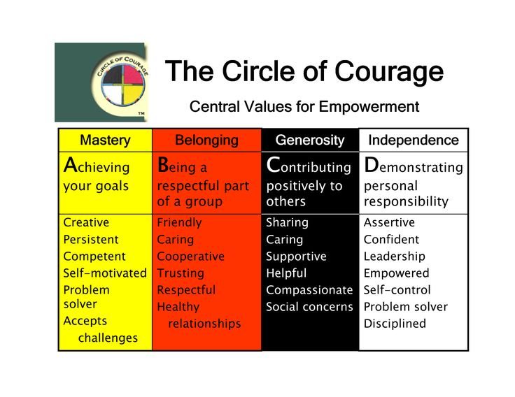 4 types of courage Teaching values: courage by jeff asher webster defines courage as the quality or state of mind or spirit enabling one to face danger or hardship with confidence or.