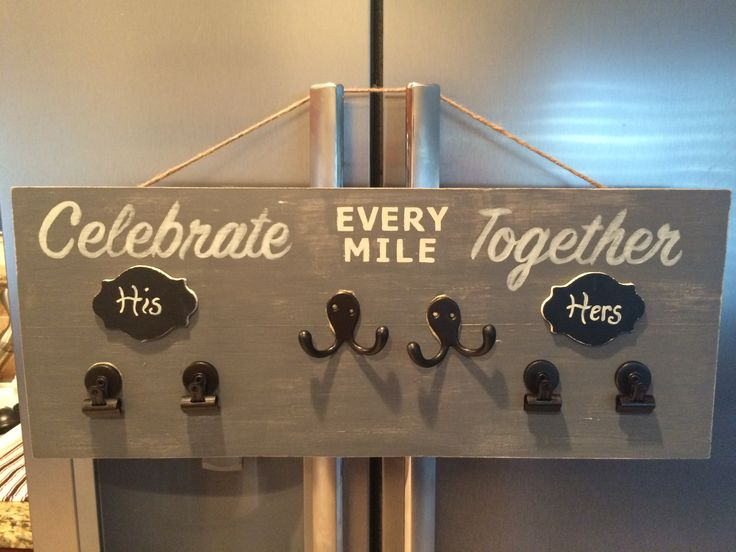 Couples race bibs and medals display!