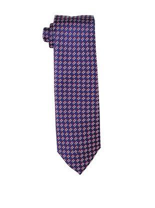 Yves Saint Laurent Men's Checkered Tie, Red/Navy