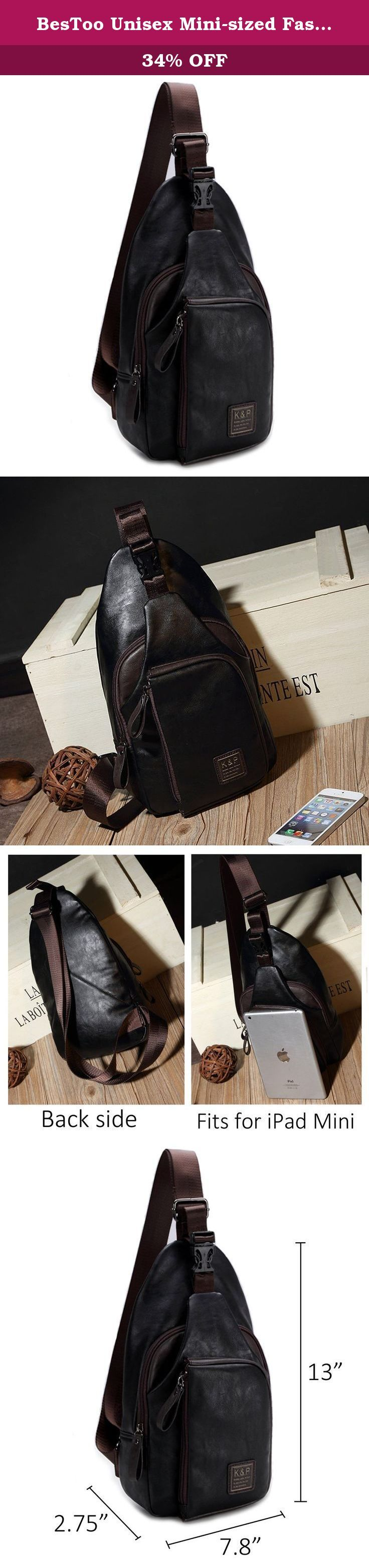 BesToo Unisex Mini-sized Fashion PU Leather Vintage London Unbalance Backpack Crossbody Sling Bag Chest Bag Multipurpose Daypack (Black X). Transport time: About 10 to 18 days delivery! About color: Please allow little color difference due to different camera screen show. Small fine shape portable break the rules definition,go on a tour without any burden.Free and easy,trends,advocating freedom,the pursuit of taste. .