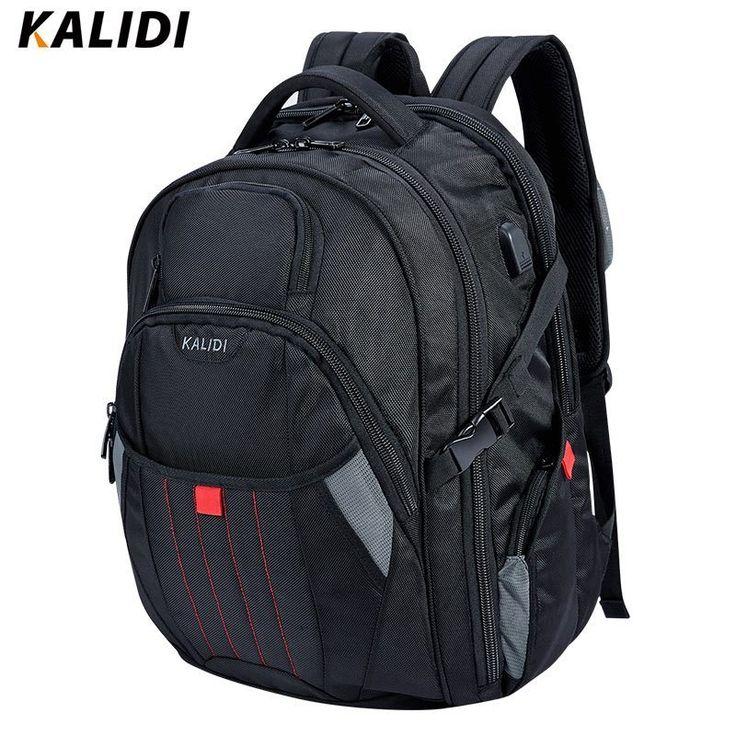 KALIDI Large <b>Laptop Backpack</b> 18.4 17.3 inch Travel <b>Fashion</b> Black ...