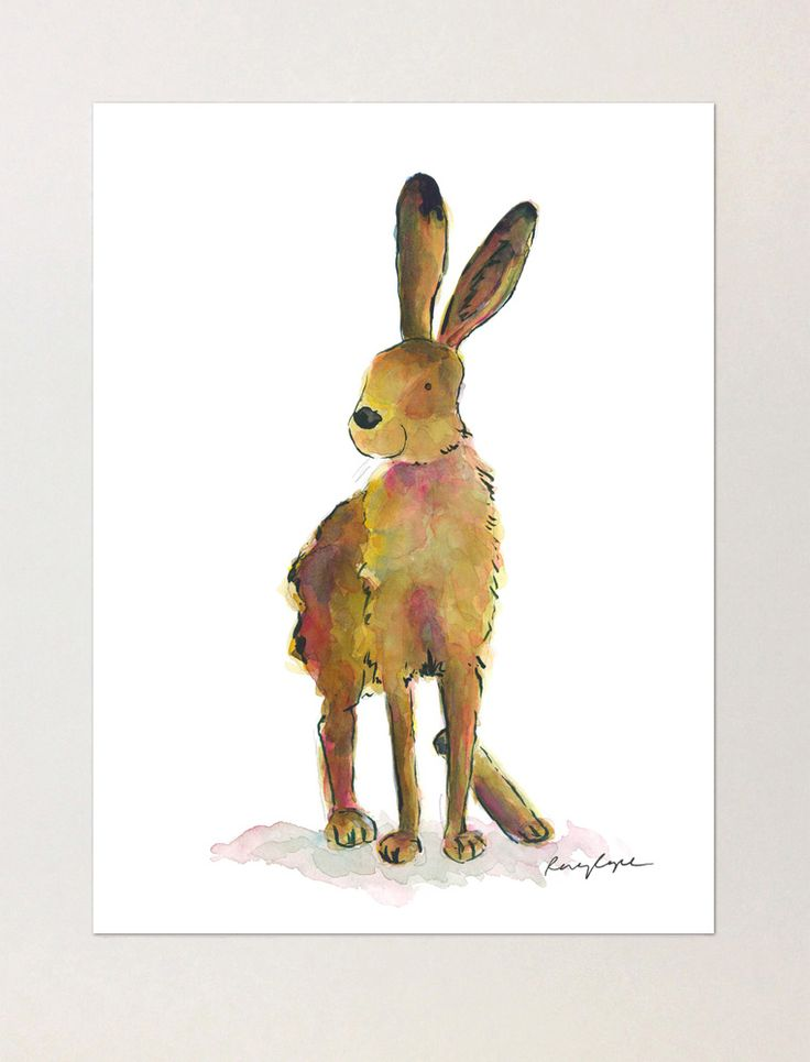 Violet the Hare - A4 Print of Orginial Watercolour Painting
