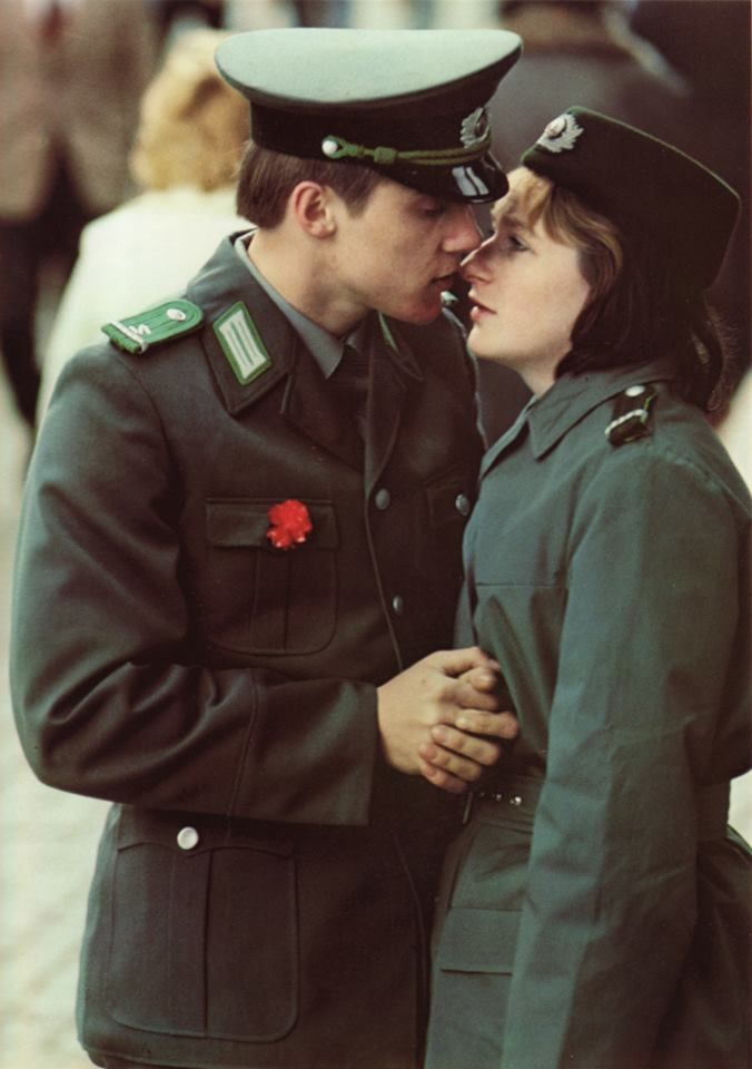 East German Soldier And His Girlfiend