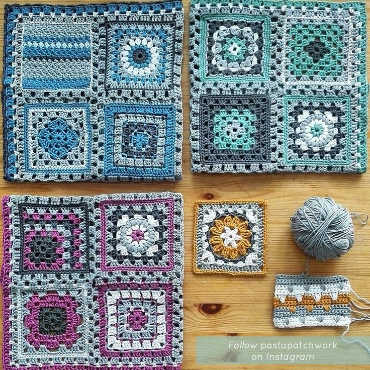 Crochet meets Patchwork Afghan by Pasta & Patchwork