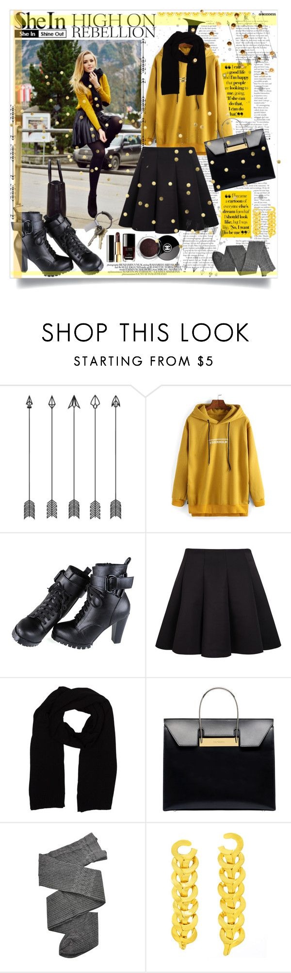 """""""•♥•Yellow Hooded Sweatshirt•♥•"""" by tinaisapenguin ❤ liked on Polyvore featuring Hermès, Chanel, Balenciaga, Trasparenze, Versace and CB2"""