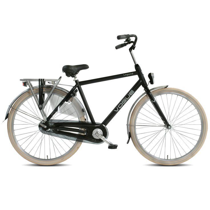 Vogue Stadsfiets Legend heren zwart 53cm Zwart  Description: De Vogue Legend Single Speed is een mooie herenfiets met een stoere en robuuste uitstraling en is zeer geschikt voor het gebruik in de stad. Het stalen frame is uiterst stabiel en de stevige bagagedrager is sterk genoeg voor het vervoeren van je dagelijkse boodschappen. Bepaal zelf je snelheid door meer of minder kracht op de pedalen te zetten. Door de LED batterijverlichting op fiets zowel voor als achter en de veilige reflectie…