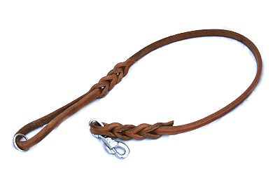 Classic leash handmade from leather cord. All sizes possible.