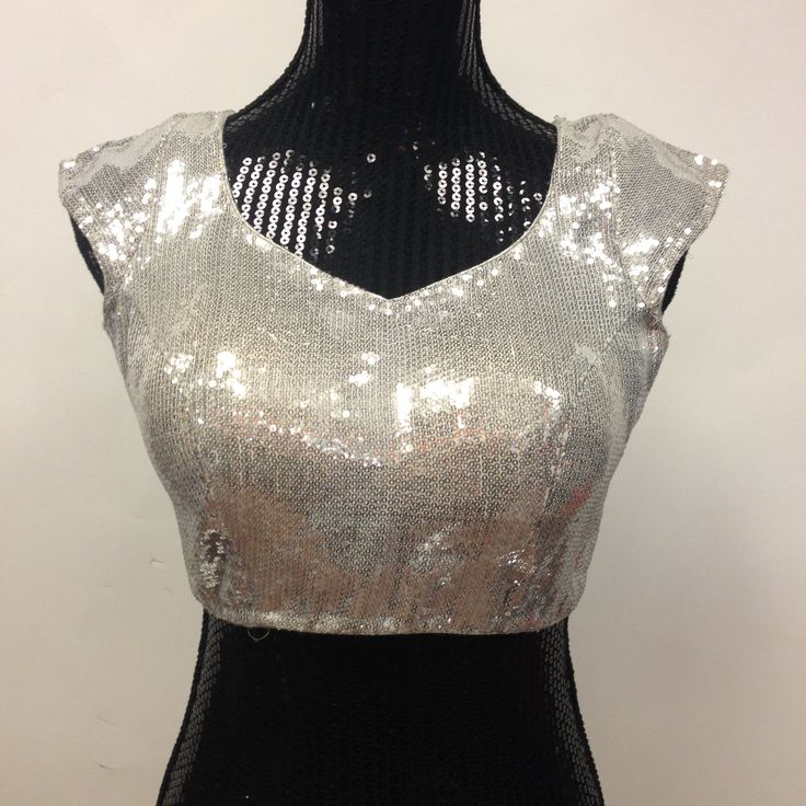 Sequence Party Wear Blouse - Silver
