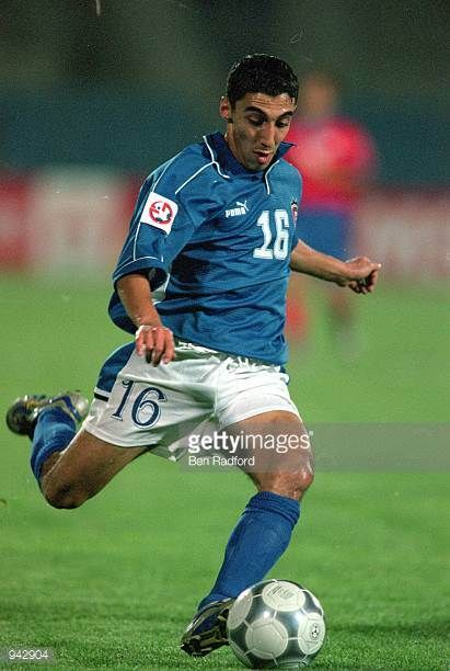 Nasser Othman of Kuwait in action during the Asian Cup 2000 match against Korea Republic played in Tripoli Lebanon Kuwait won the match 10 Mandatory...