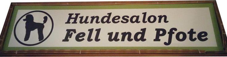 Aludibond-Schild, 200x50cm, witterungsbeständig für Hundesalon Fell und Pfote - Wir sind gespannt, wie es an der Fassade aussehen wird :)