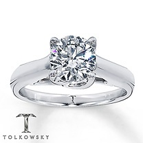 One day...$85,000. Kay Jewelers. Tolkowsky 14k White Gold 4 Carat t.w. diamond Solitaire.Bling, Kay Jewels, Future Reference, Cut Tolkowsky, 14K White, Living Happily, Ideal Cut, Gorgeous Rings, Diamonds Solitaire