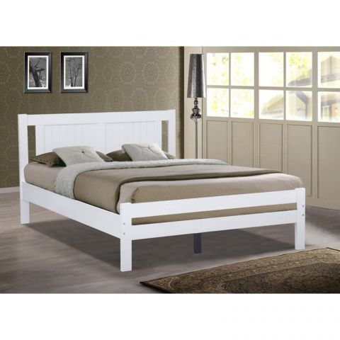 glory white wooden bed frame 3