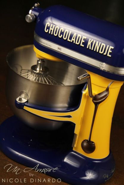 vintage  kitchenaid | Chocolade Kindje Custom KitchenAid Mixer – Lovely Vintage theme | Un ...