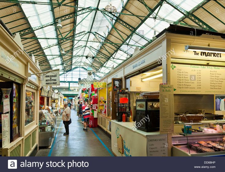 Cardiff indoor market a victorian market hall Cardiff city centre South Glamorgan South Wales GB, UK, EU, Europe Stock Photo