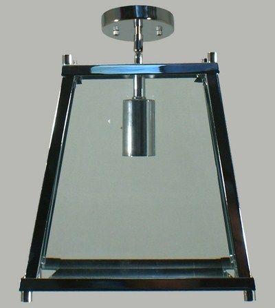Chrome Oregon 1 Light Small Flush Lantern